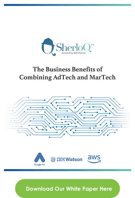 SherloQ AdTech MarTech white sheet cover